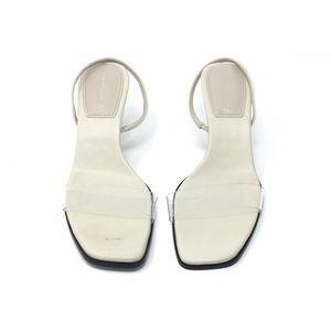 Zara Square Toe Slingback Heels